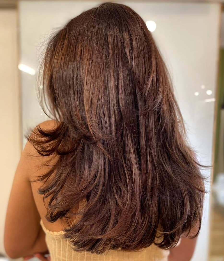Long Textured Layered Hairstyle