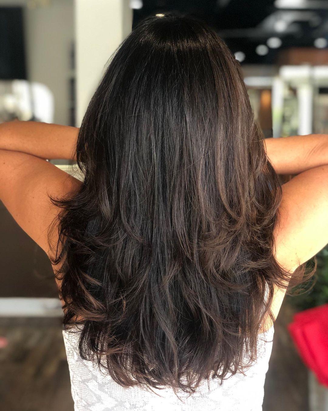Long Piece-y Layered Haircut