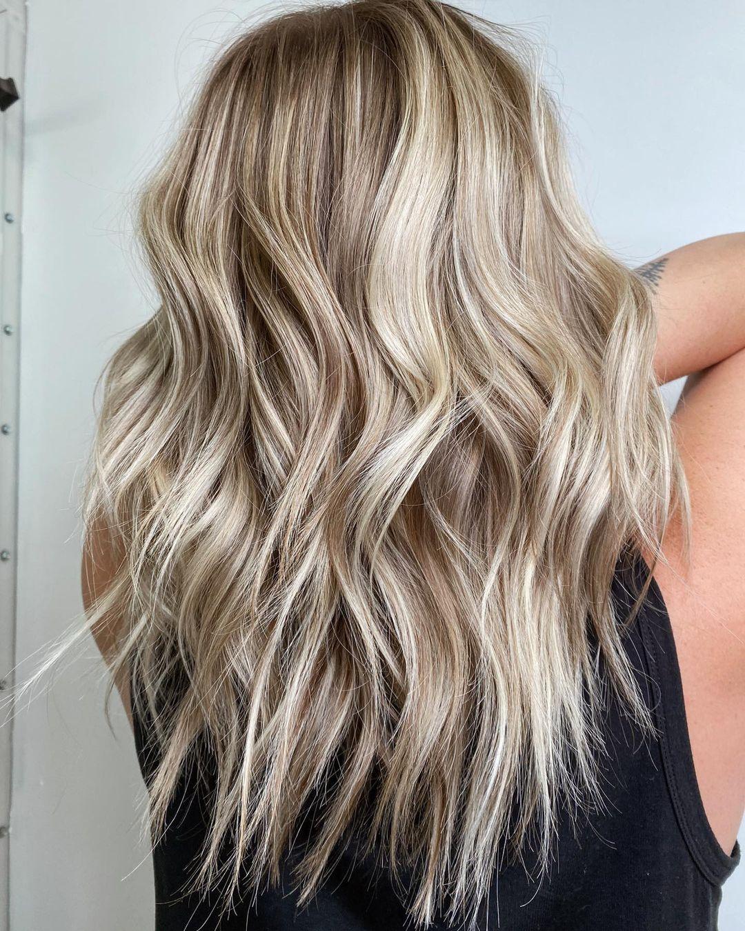 Long Layered Light Dirty Blonde Hair
