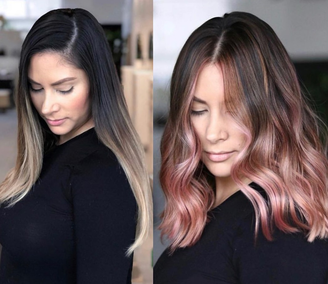 Rose Gold Balayage Maintenance