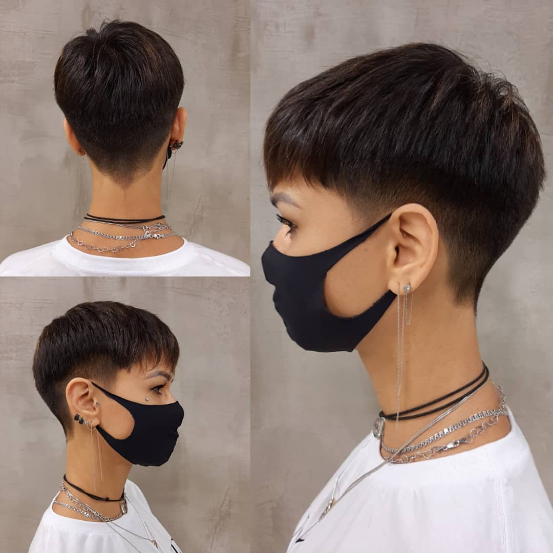 Eye-Catching Tapered Pixie