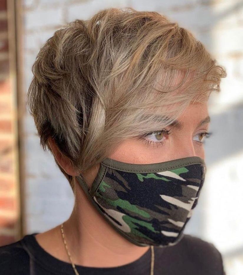 Cool Blonde Pixie Cut 2021