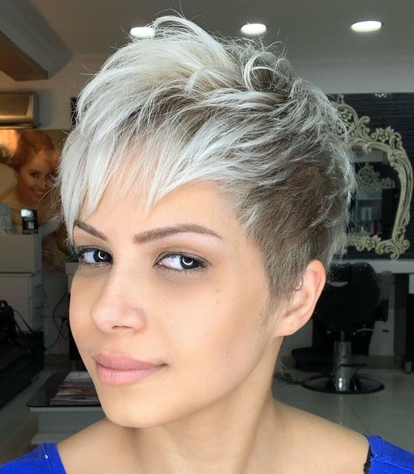 Pixie with a Two-Tone Hair Color
