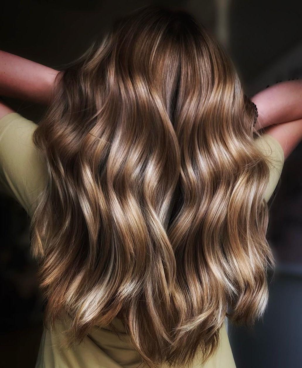 Medium-Length Dark Honey Blonde Balayage