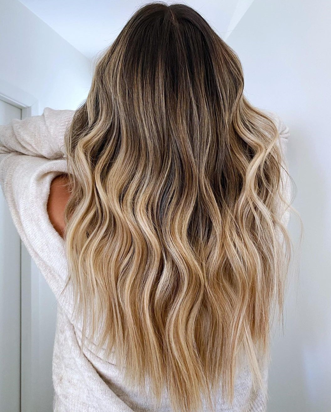 Beige Blonde Hair with Honey Highlights