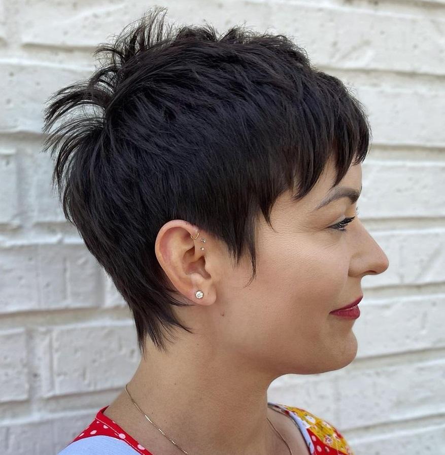 Short Black Pixie Hairstyle
