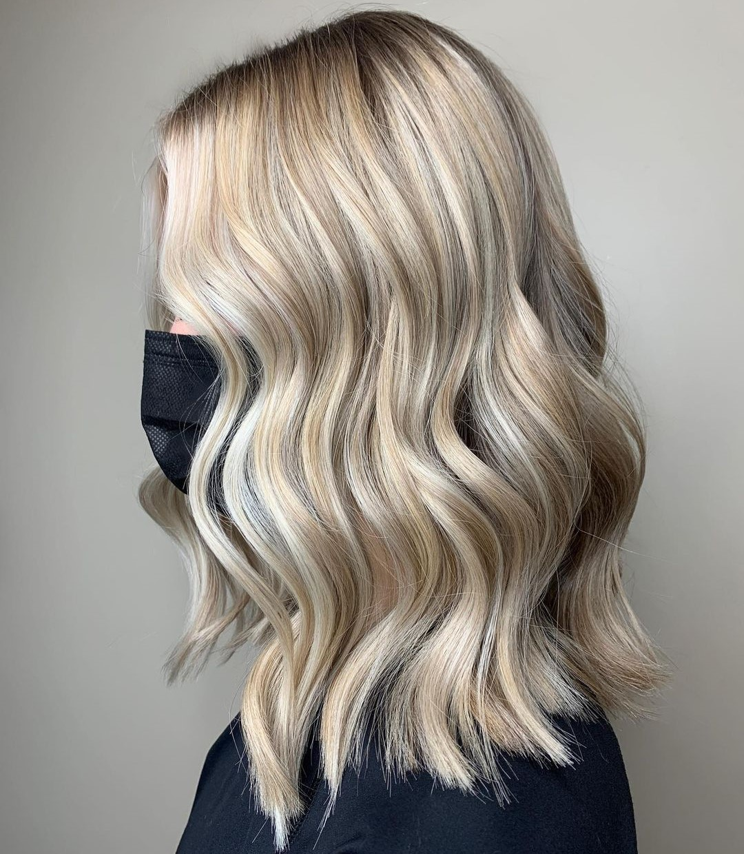 Champagne Blonde with Highlights and Lowlights