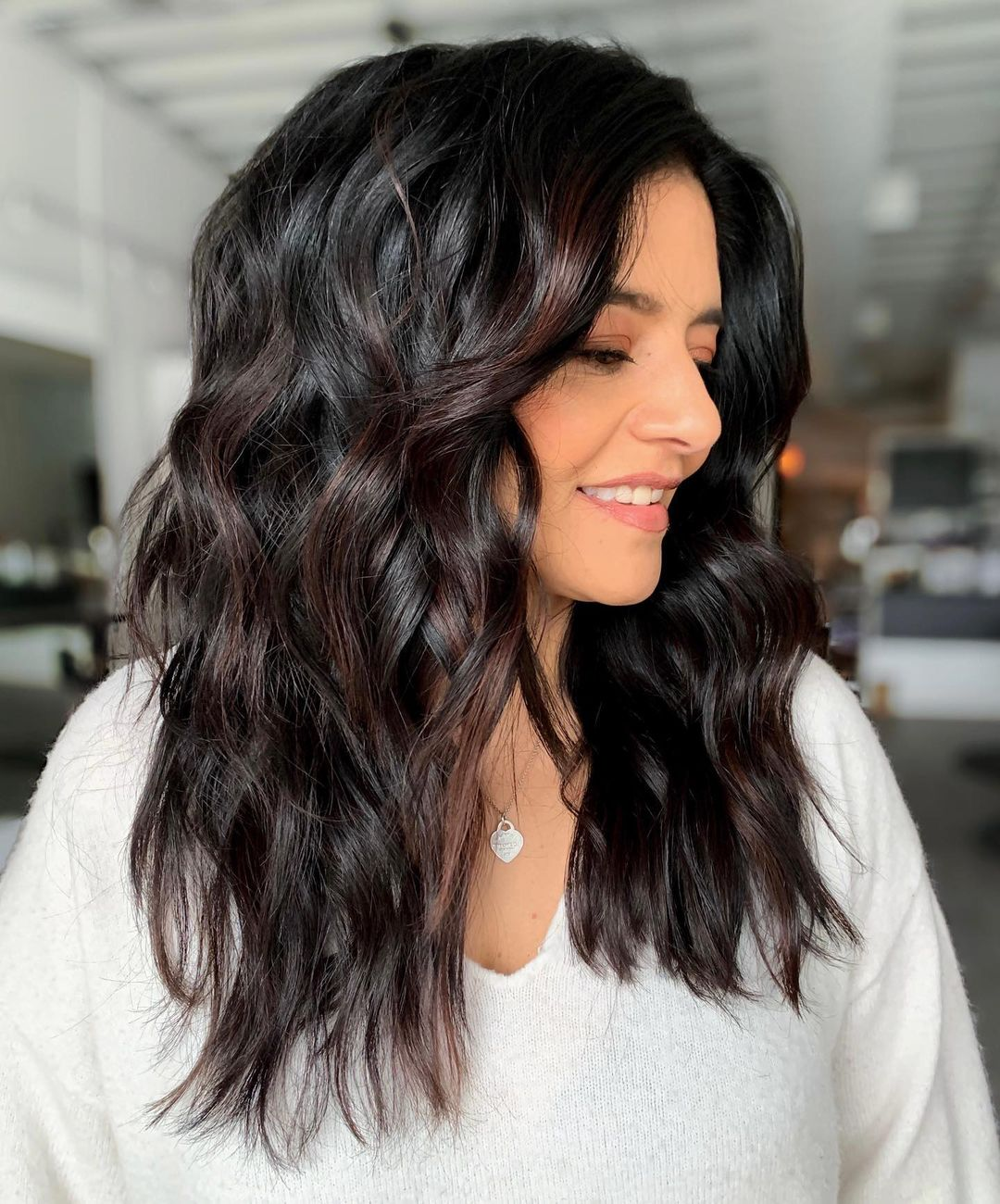 Long Textured Hairstyle for Thick Hair