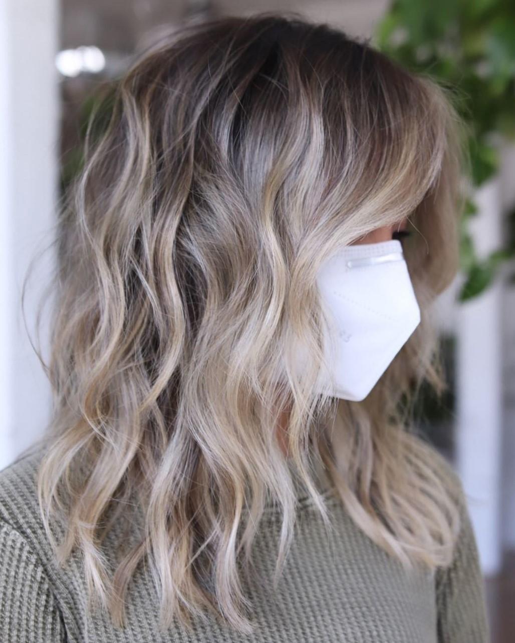 Medium Long Blonde Balayage Hair