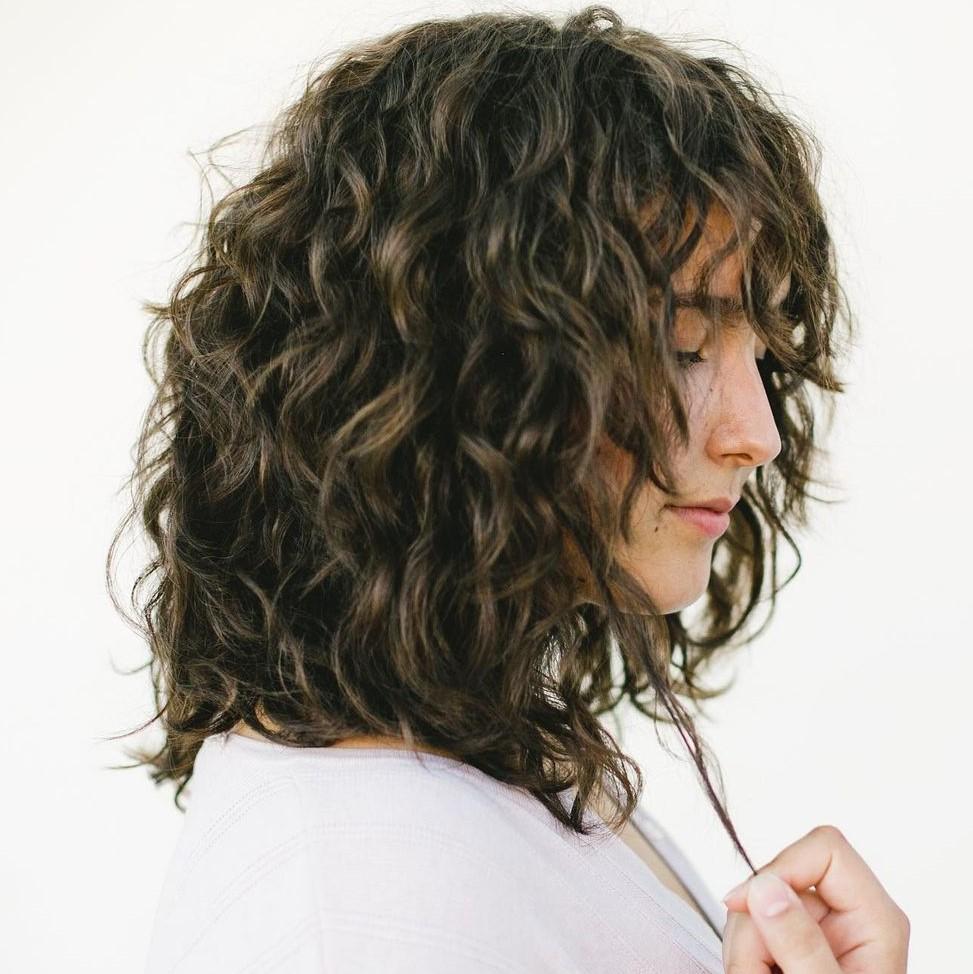 Medium Deva Cut for Curly Hair