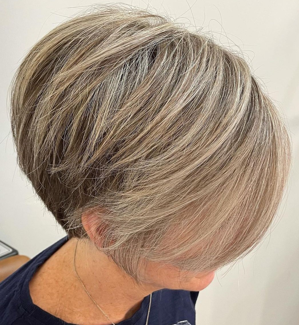 Short Hair with Highlights for Older Women