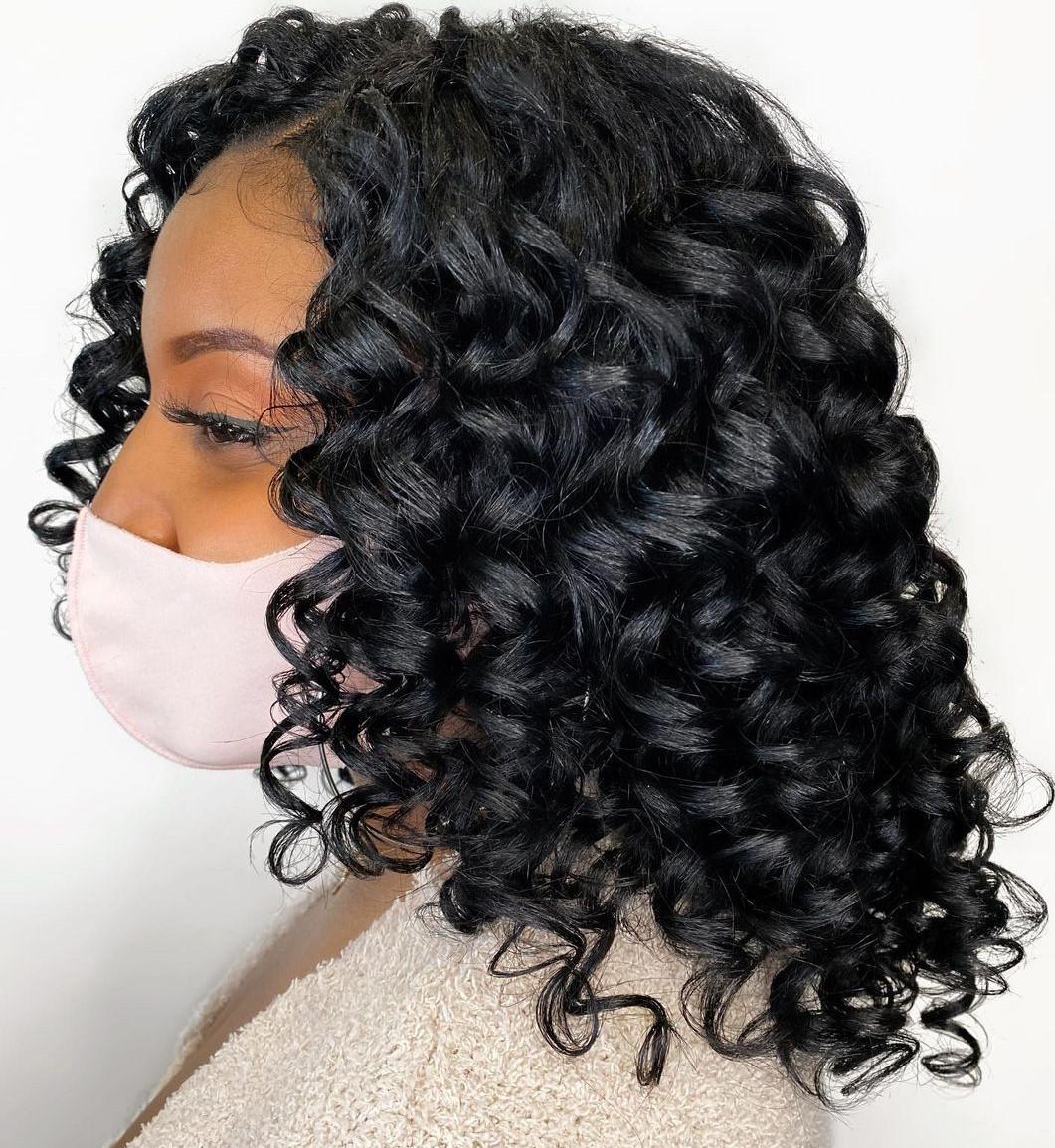 Black Deva Cut for Defined Curls