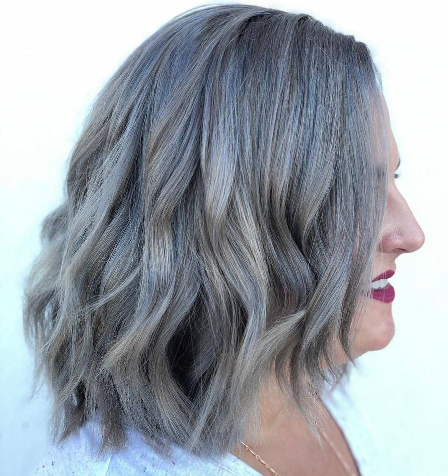 Hair Colors for Gray Hair with Highlights