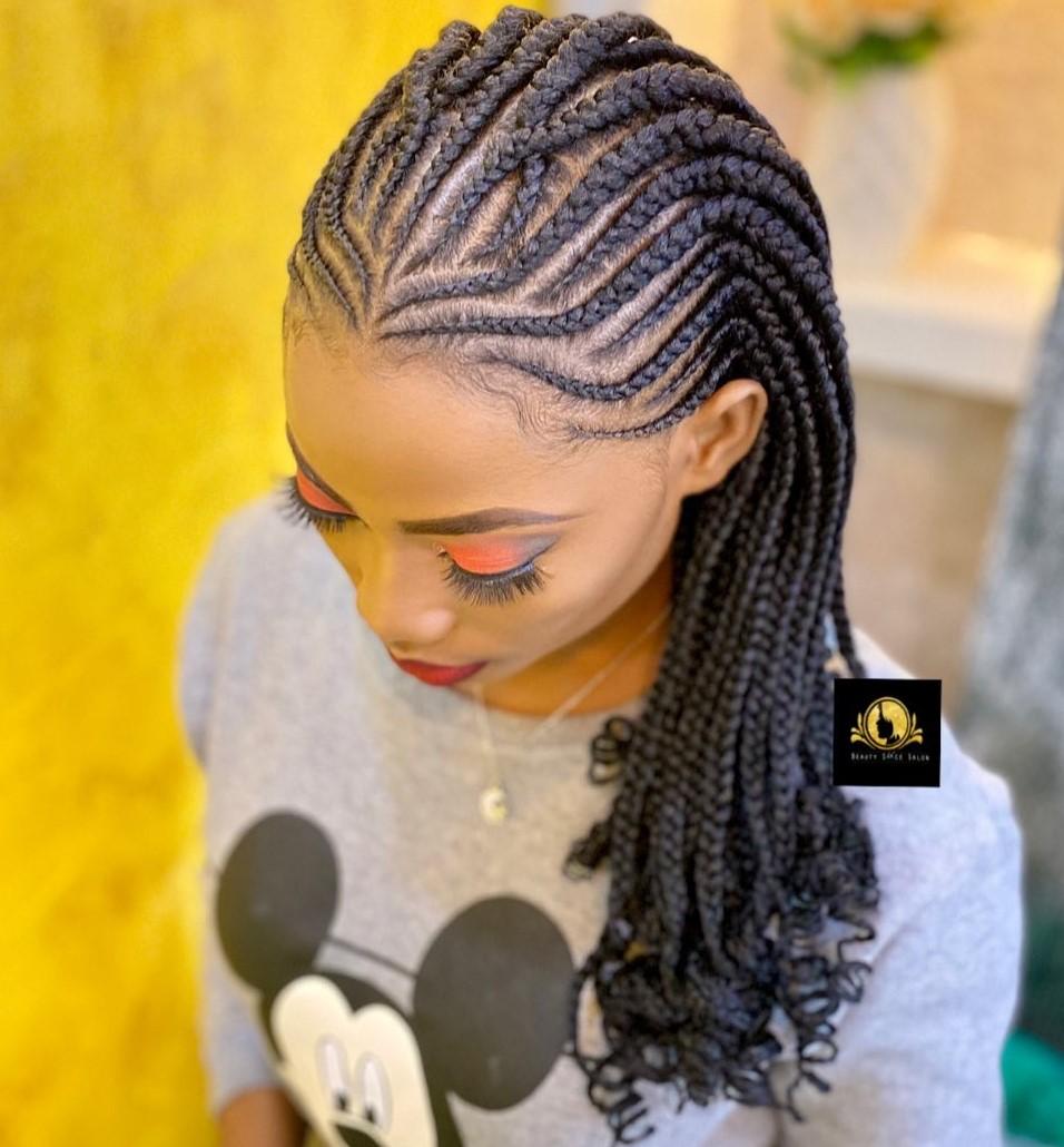 Criss-Crossed Fulani Braids