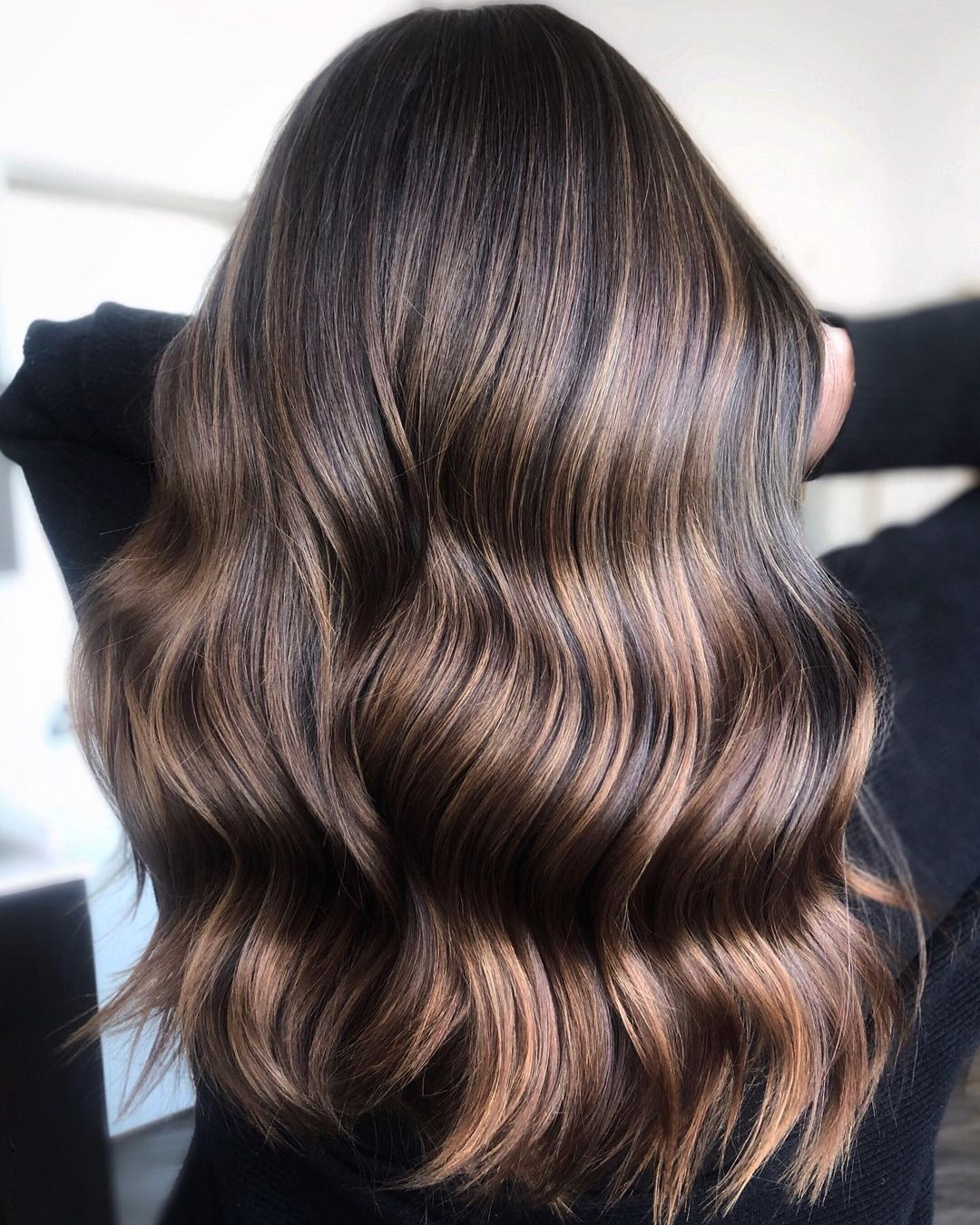 Golden Babylights for Dark Brown Hair