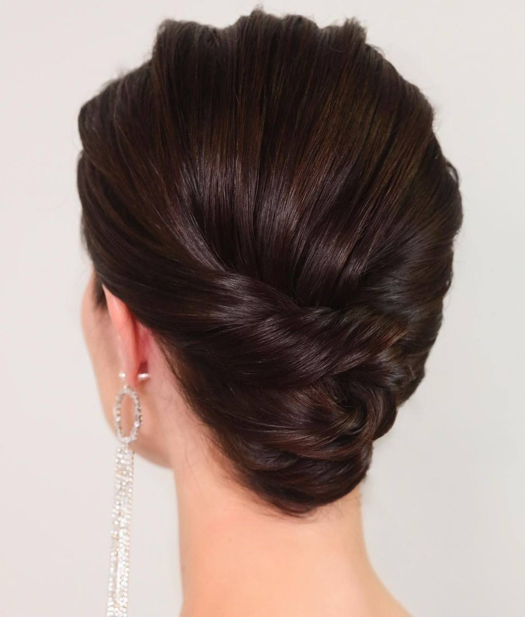 Twisted Bridal Updo for Short Hair