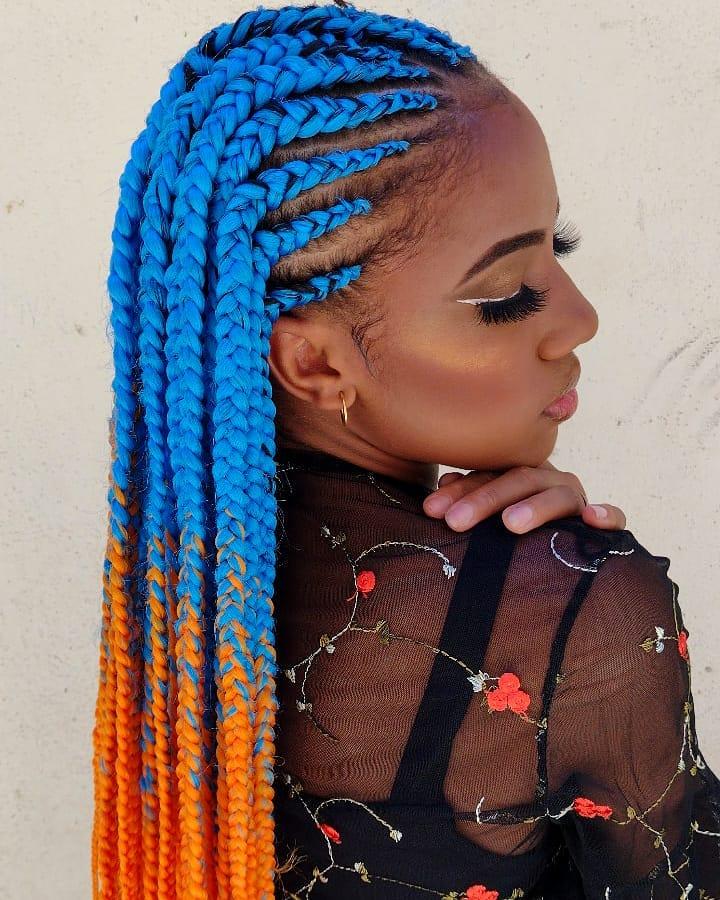 Bright Yarn Fulani Braids