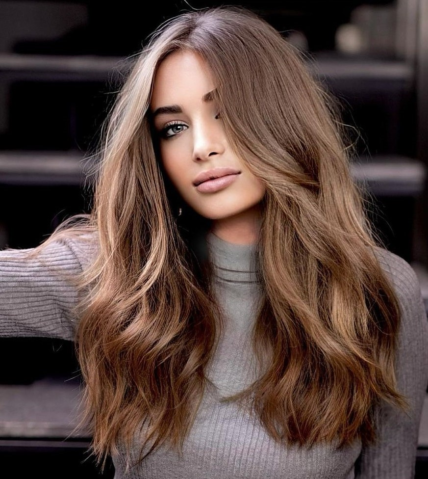 Light Brown Hair with Golden Highlights