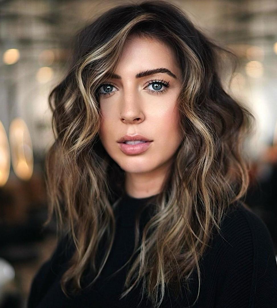 Dark Hair with Partial Golden Highlights