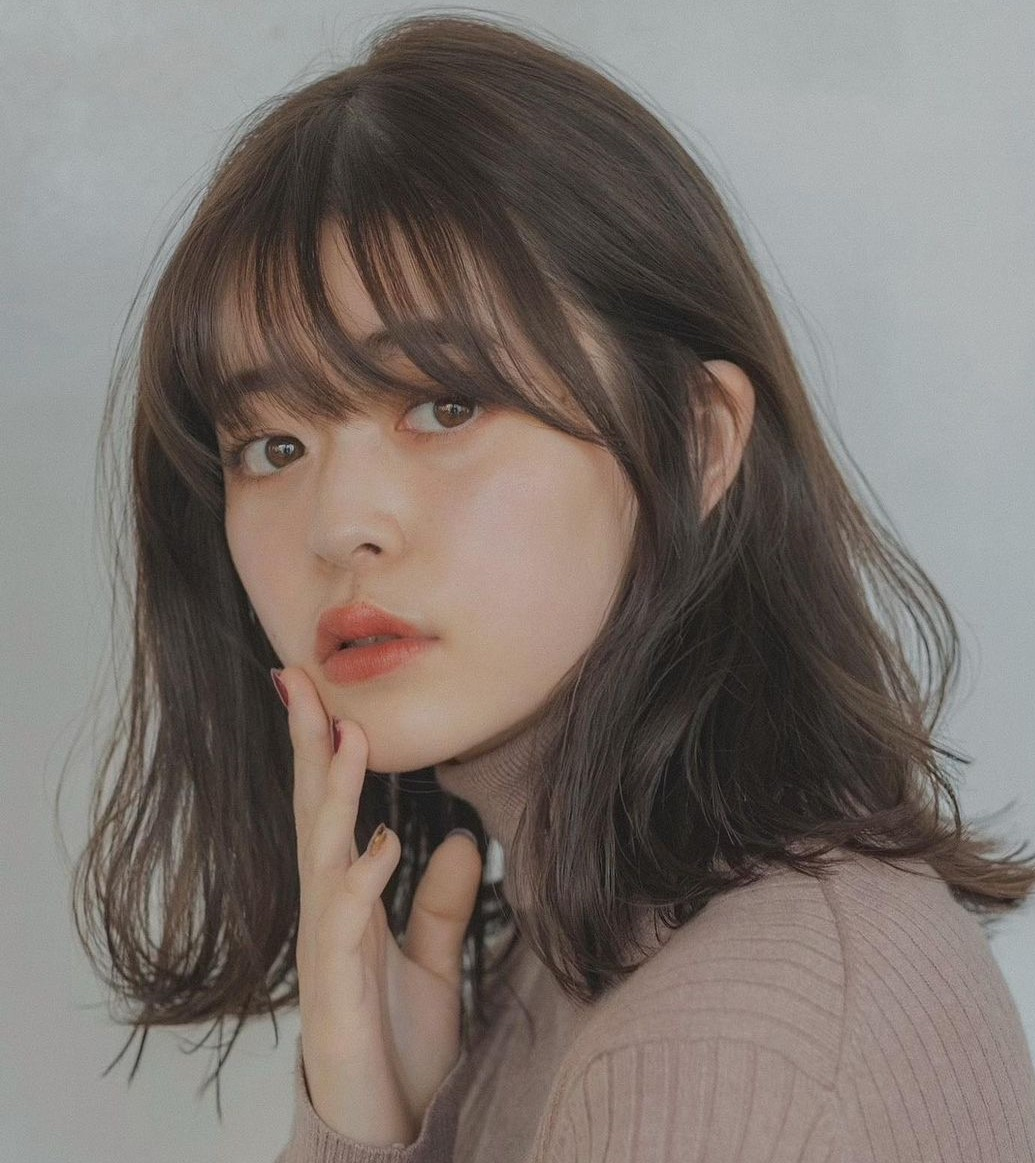 Textured Asian Hairstyle with Korean Bangs