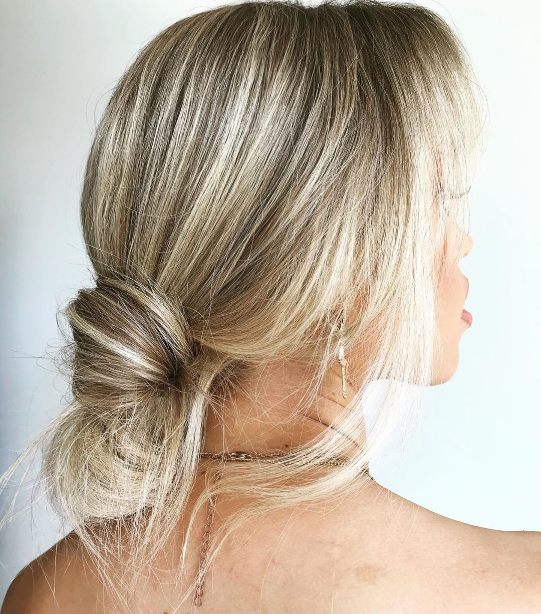 Low Knot for Thin Hair