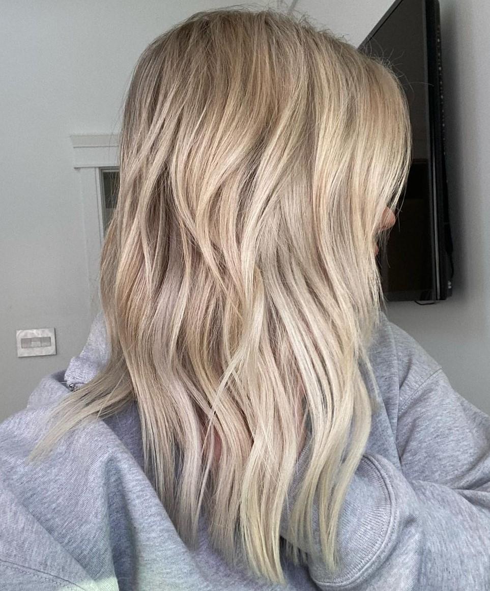 Straight Hair Waves for Medium Hair