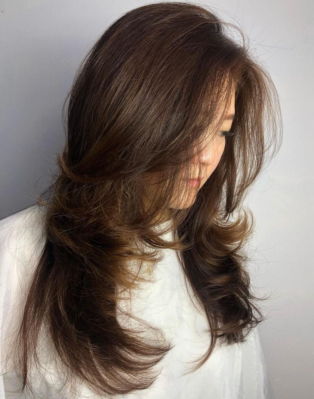 Asian Long Flipped Up Hair