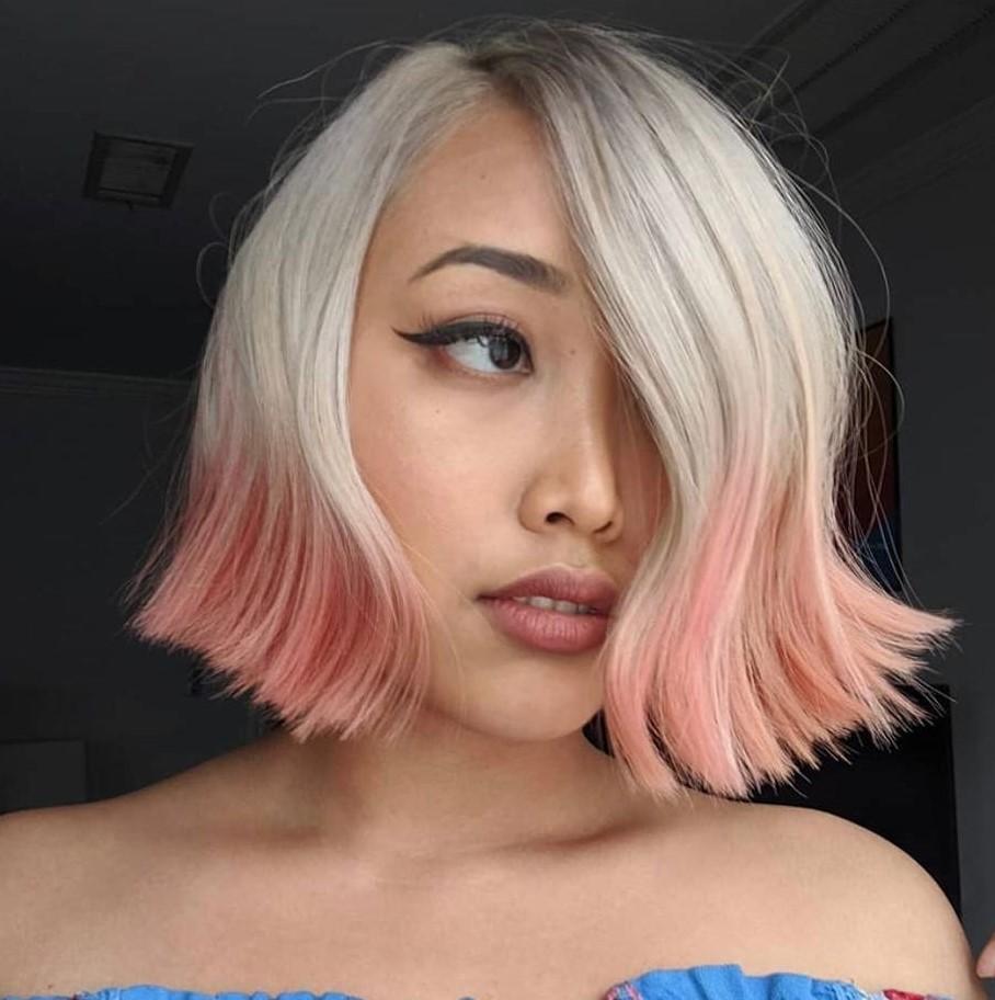 Modern Asian Blonde Bob