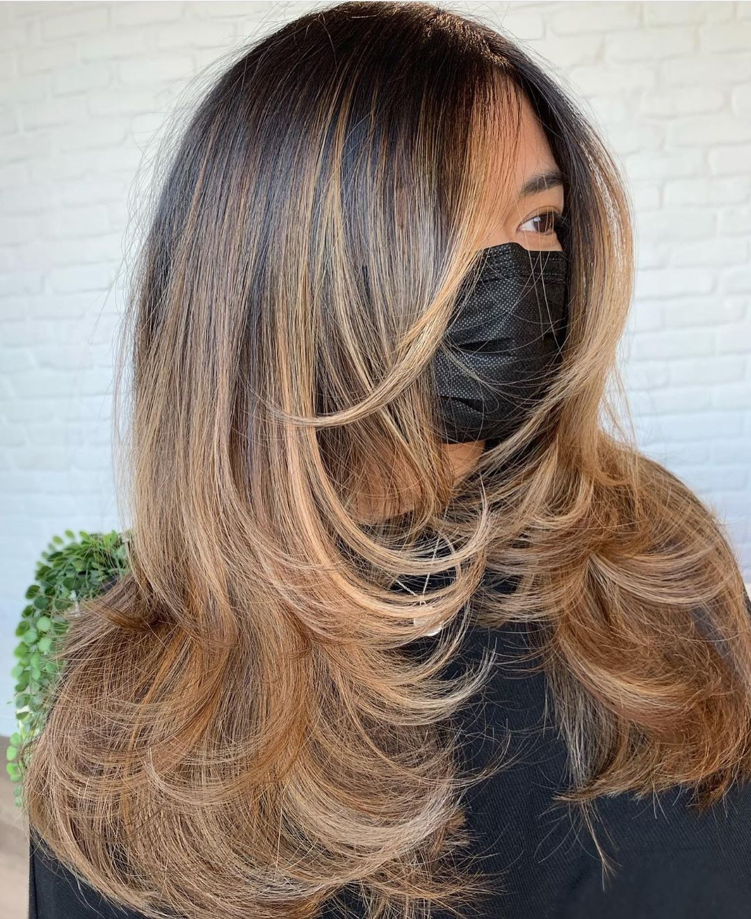 Women's Sun-Kissed Asian Hairstyle