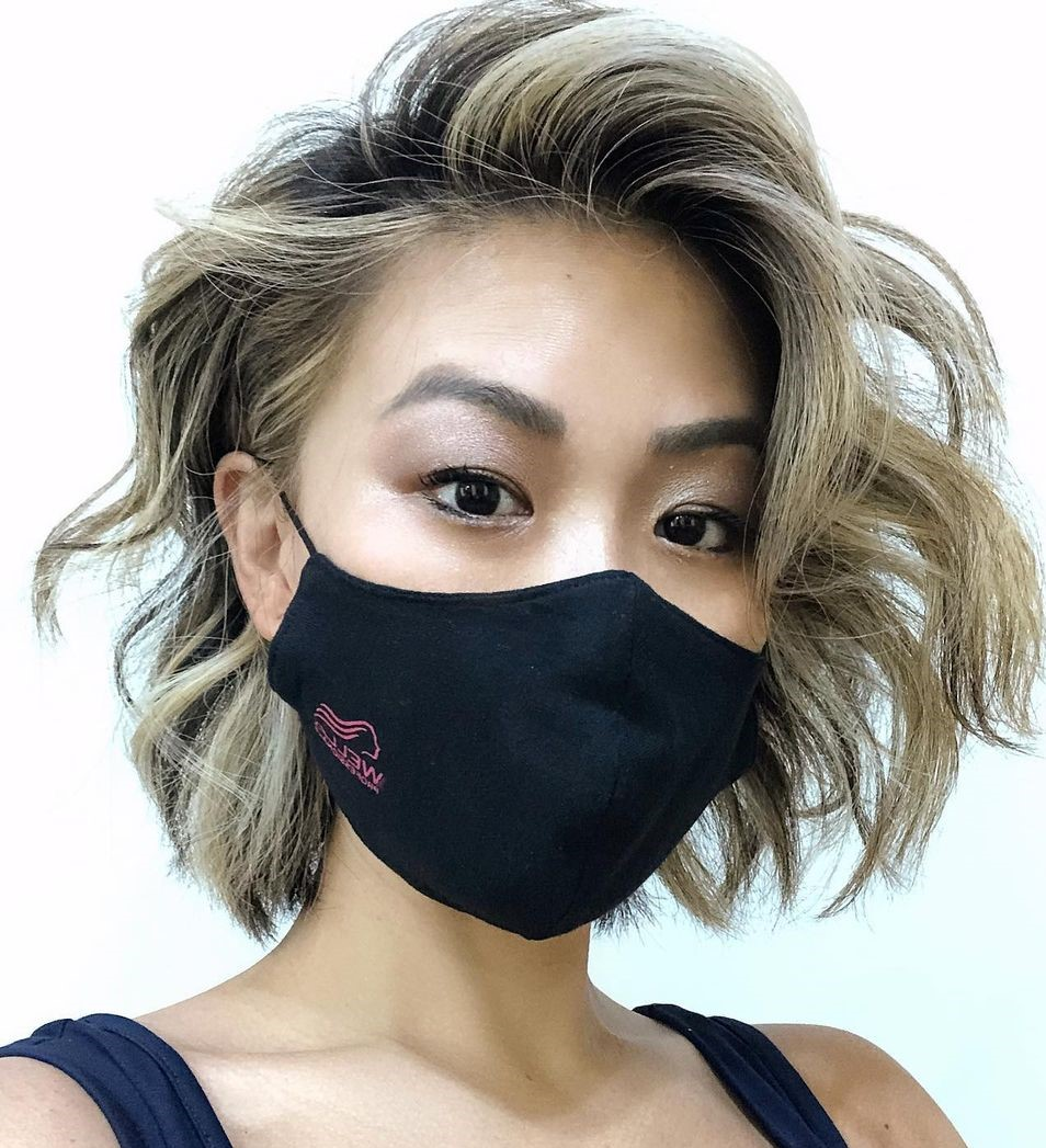 Asian Bob with Tousled Curls