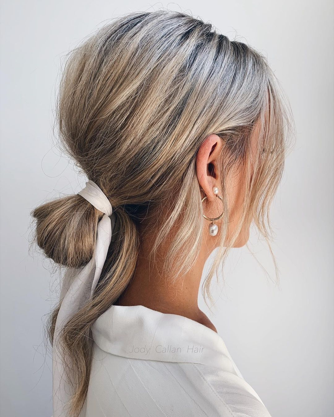 Bridal Low Bun with a Bouffant
