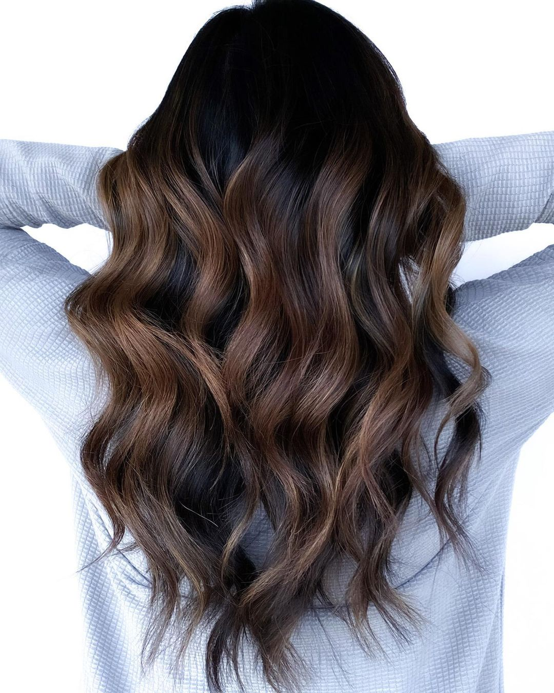 Black Shadow Roots for Brunette Hair