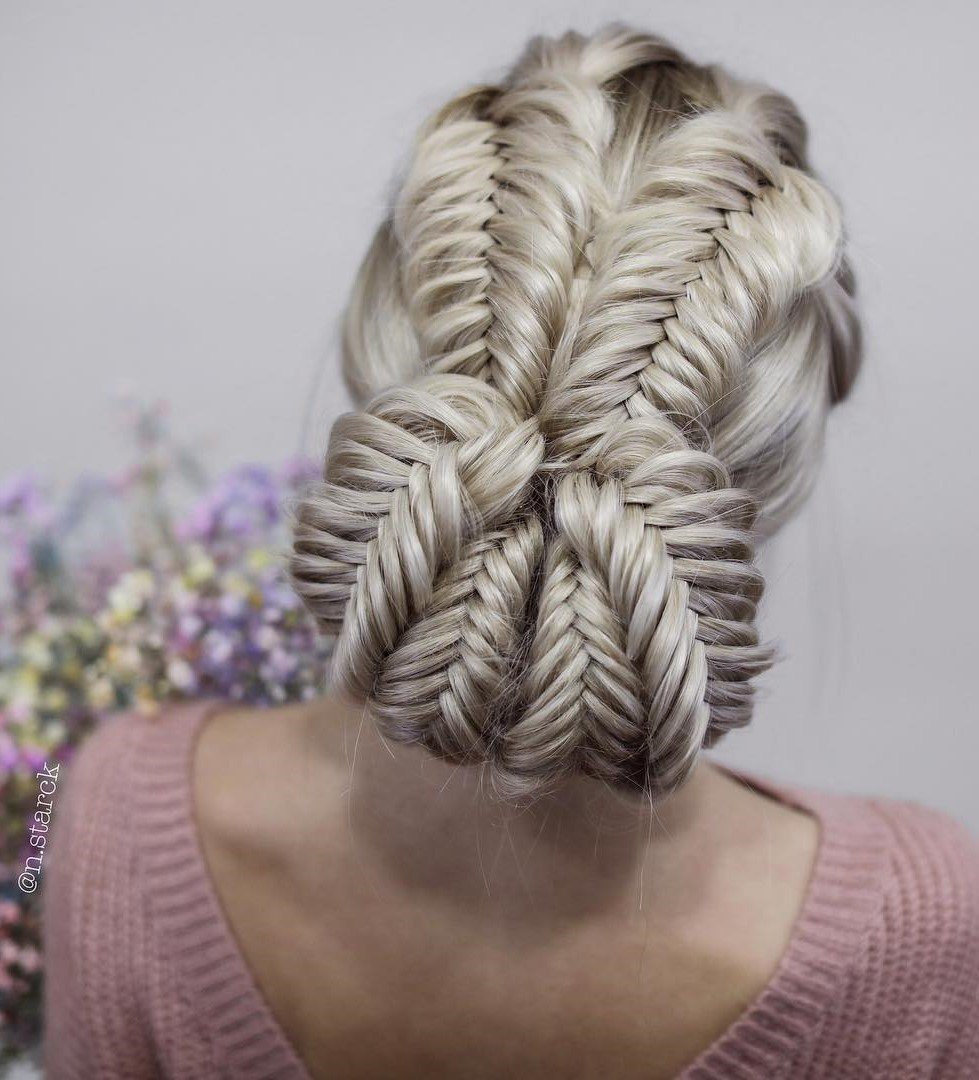 Special Braided Bun with Fishtails