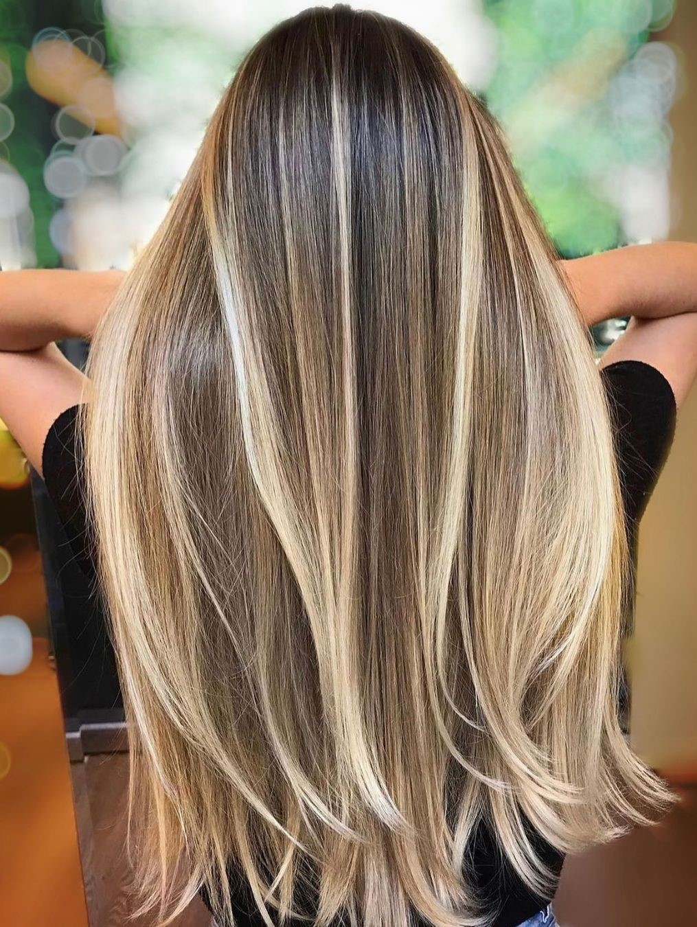 Straight Brown and Blonde Hair
