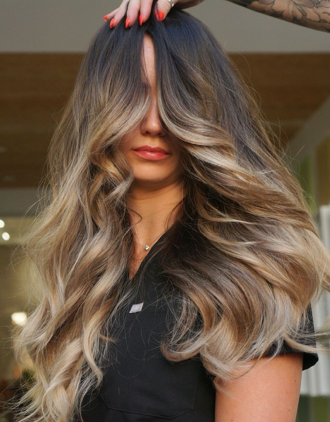 Money Pieces Balayage for Brown Hair