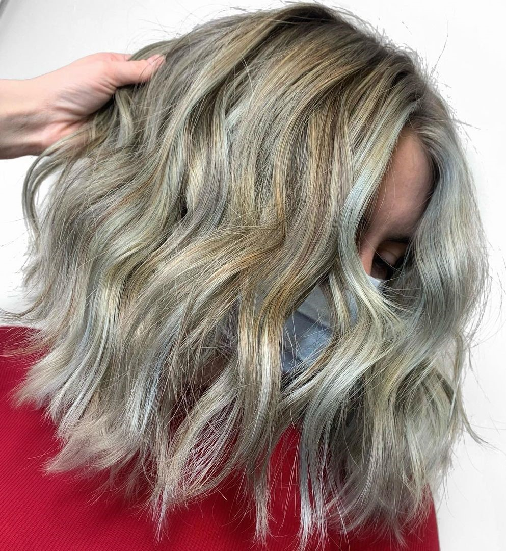 Blonde Hair with Gray Highlights