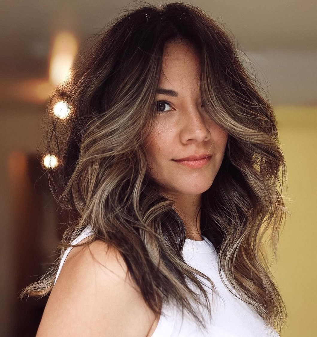 Brown Hair with Partial Highlights