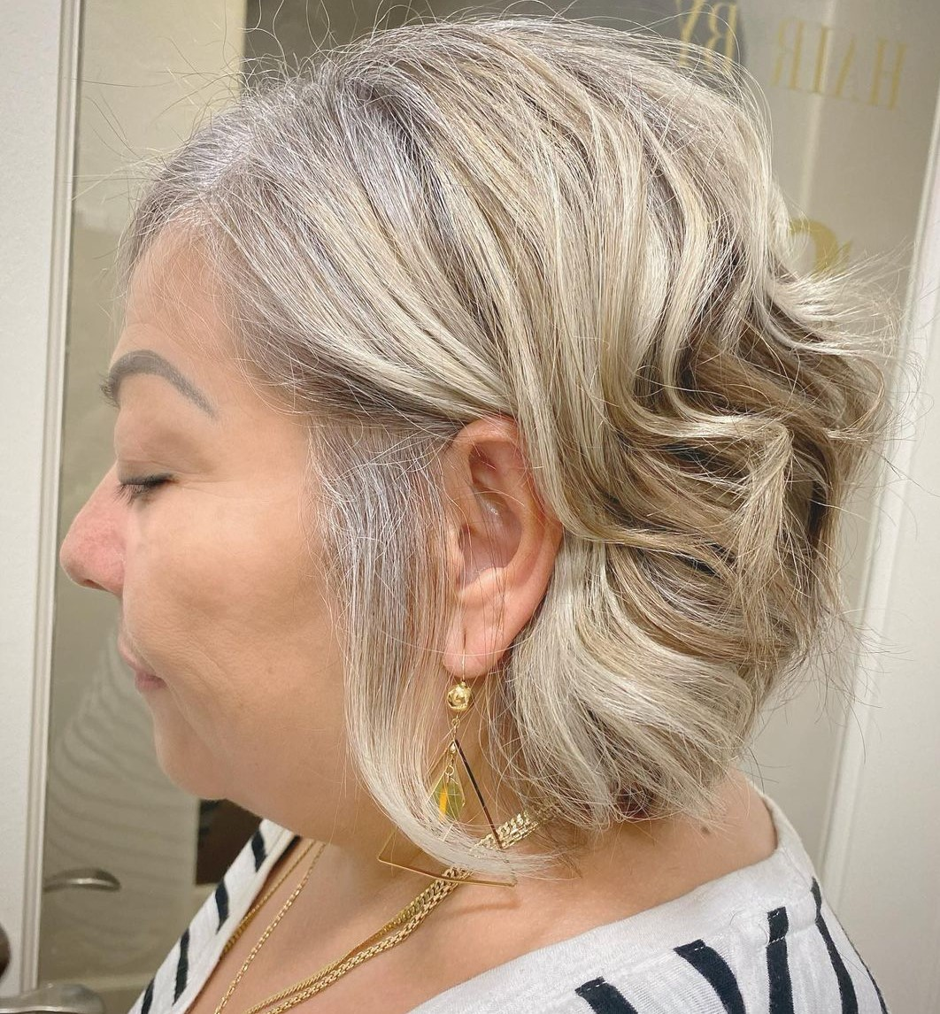 Short Curly Bob for Overweight Women