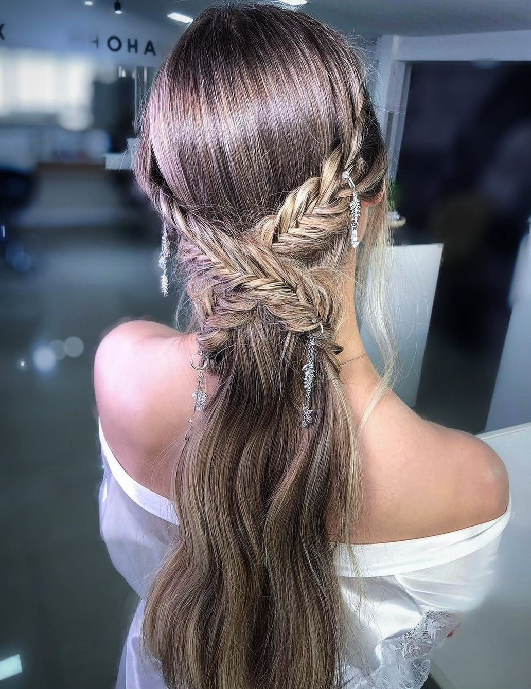 Easy Updo with Fishtails