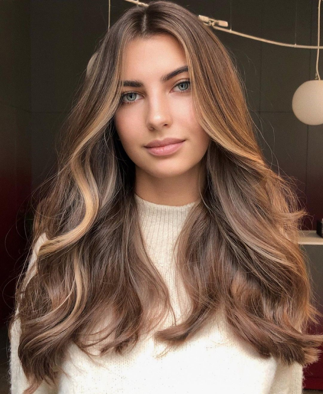 Brown Hair with Blonde Front Highlights
