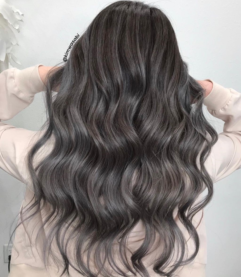 Brunette Hair with Ashy Babylights