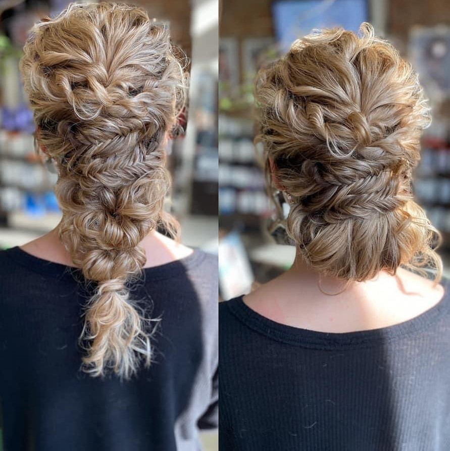 Braid with Fishtails for Curly Hair