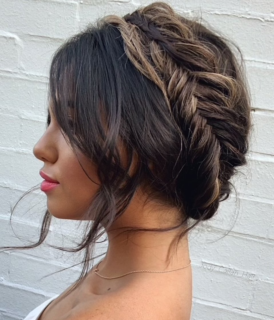 Simple Updo with a Messy Braid