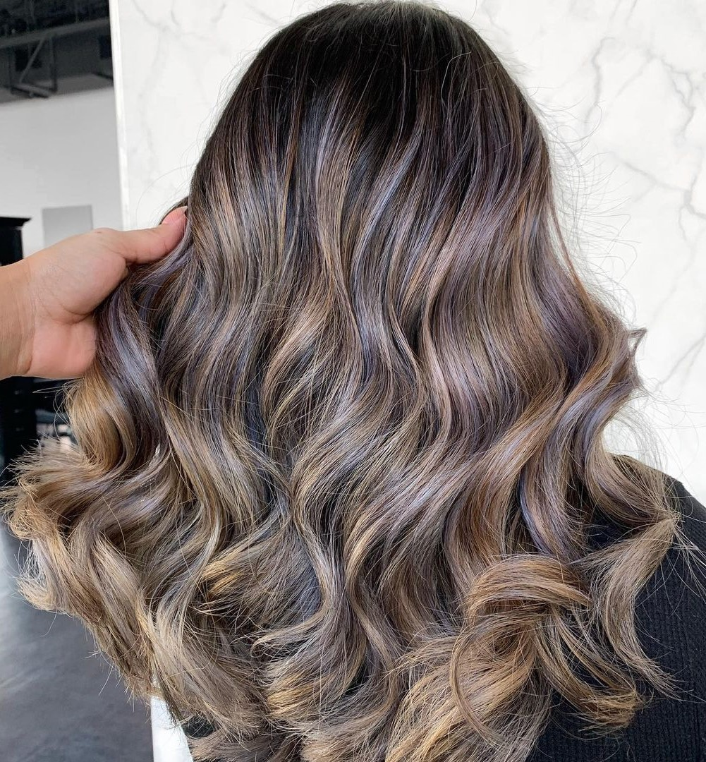 Metallic Brown Hair with Gray Highlights