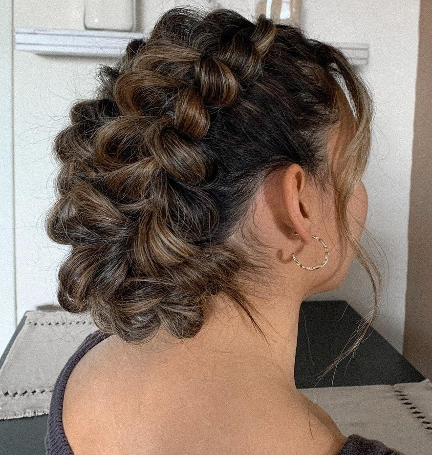 Bridal Updo with Lacy Braids
