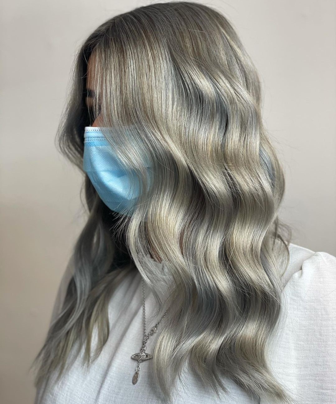 Blonde and Gray Highlights