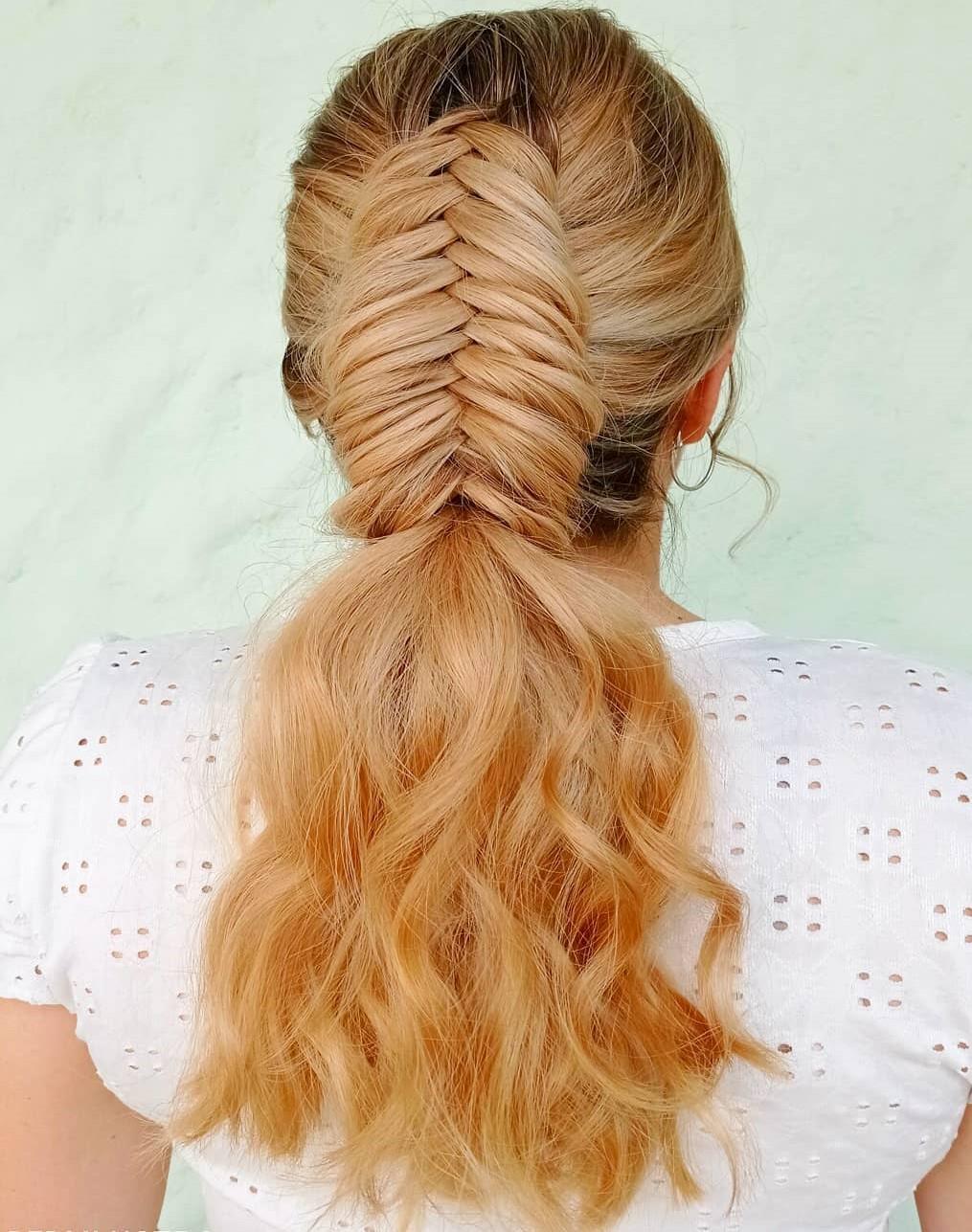 Fishtail Braid for Wavy Hair