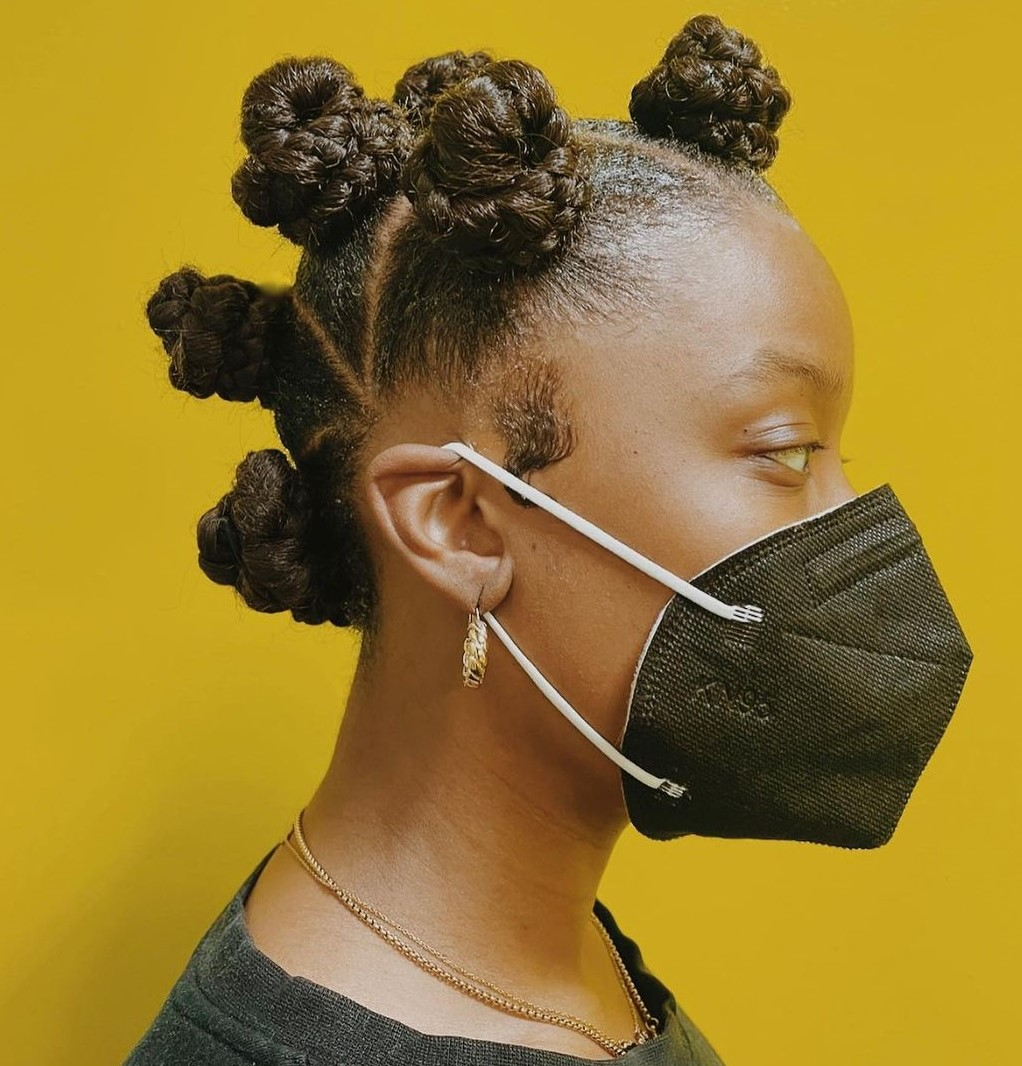 Bantu Knots for Natural Hair