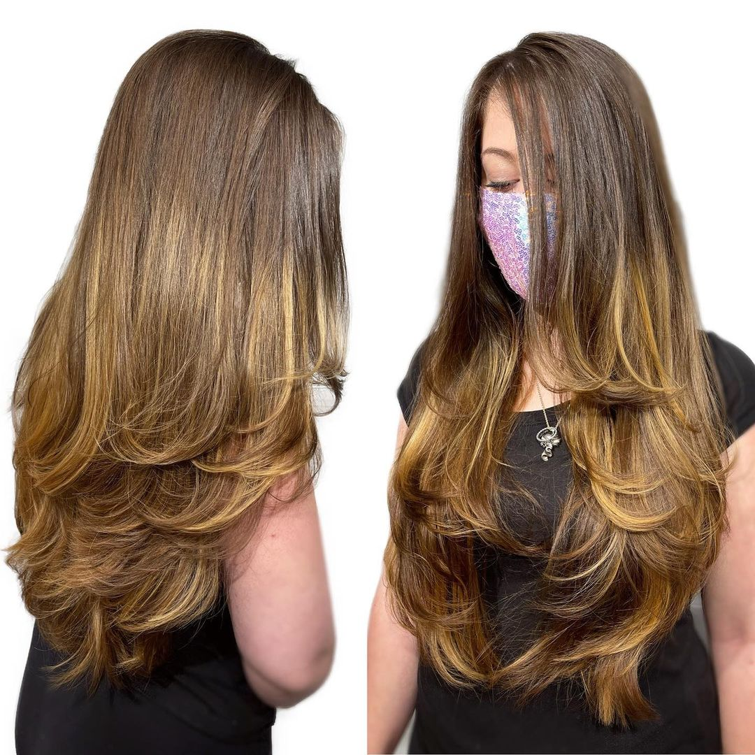 V-Cut with Layers and Highlights