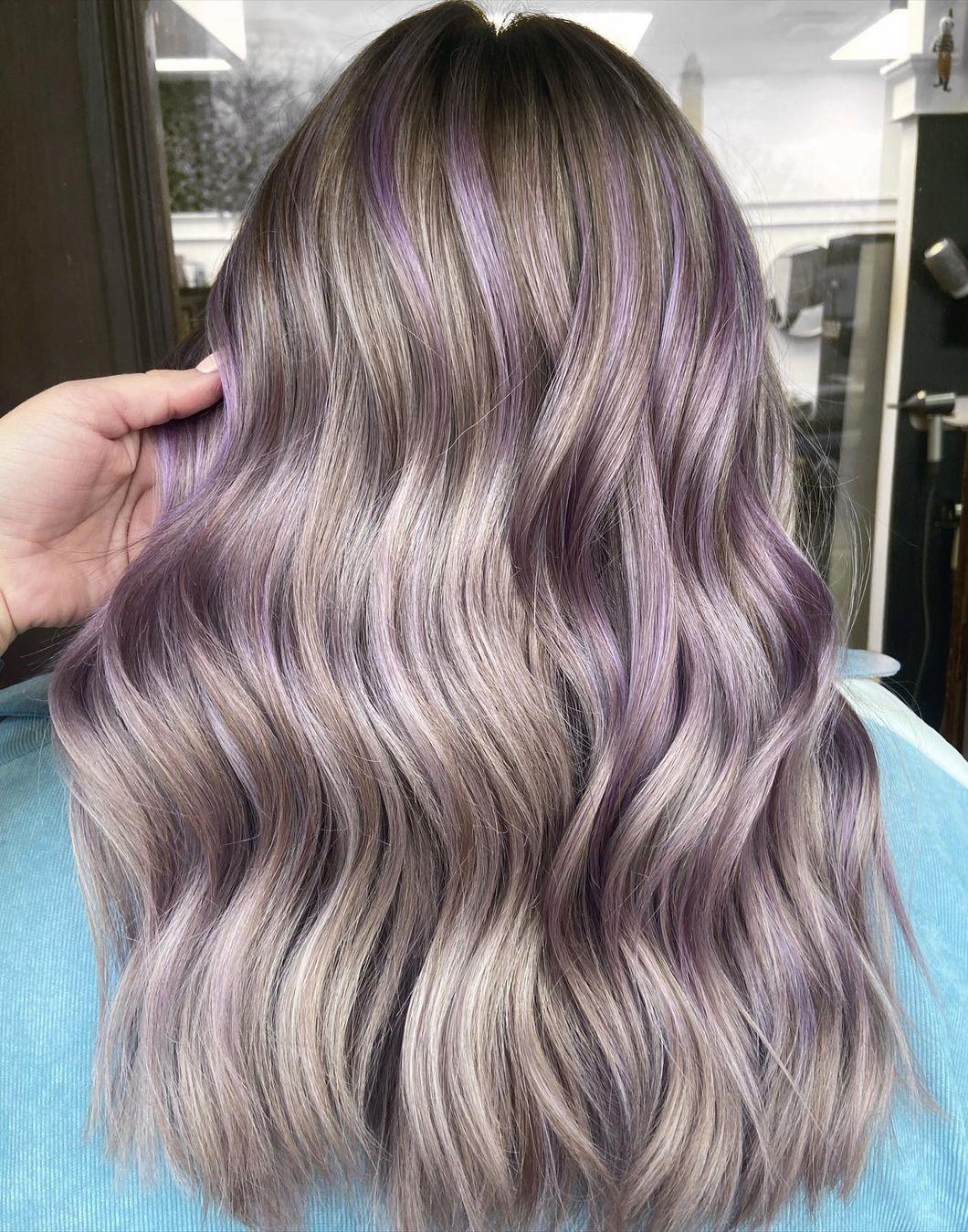 Laid-Back Light Purple Highlights